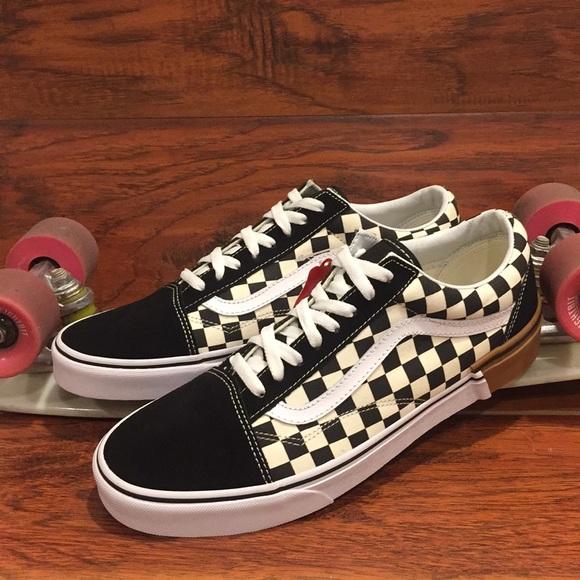 fbaa71c6696 Rare 🔥 Vans Old Skool (Gum Block) Checkerboard